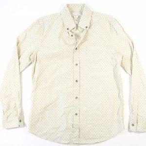 Beige Diamond Reverse Seam Shirt